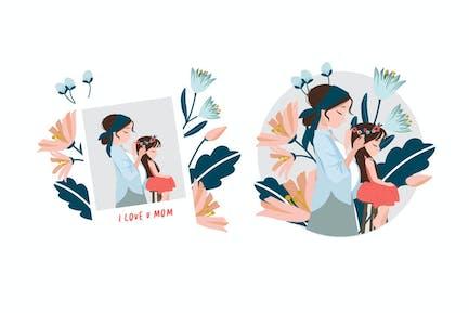 Madre e hija - Ilustración AS