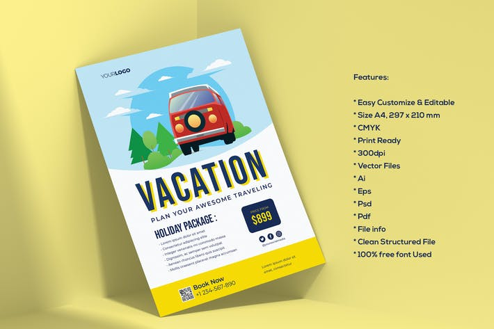 Thumbnail for Travel Vacation Flyer