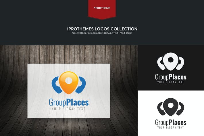 Thumbnail for Group Places Logo Template