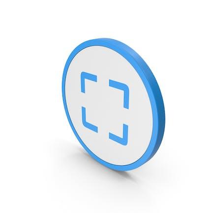 Icon Fullscreen Blue