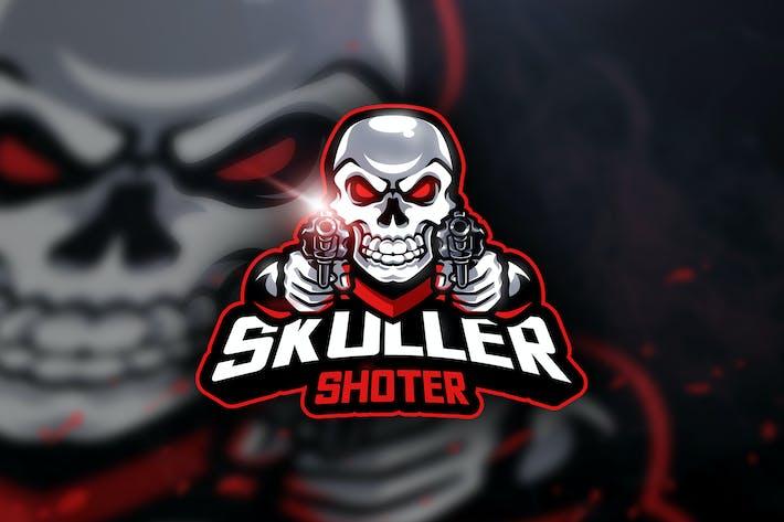 Thumbnail for Skuller Shoter - Mascot & Esport Logo