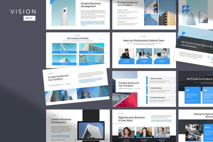 Thumbnail for Vision - Corporate Pitch Keynote Template