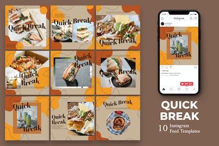 Quick Break - Food Instagram Post