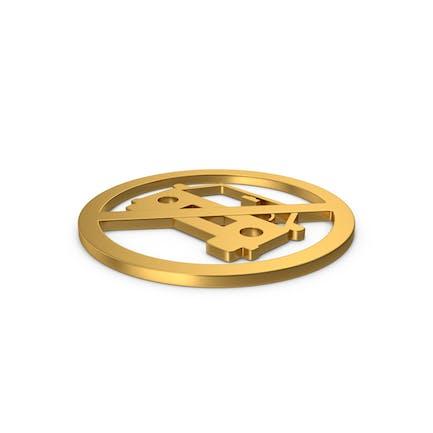 Gold Symbol No Car