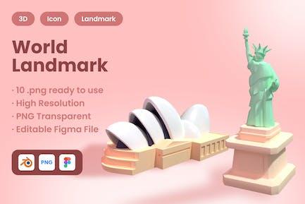 3D Country Landmark
