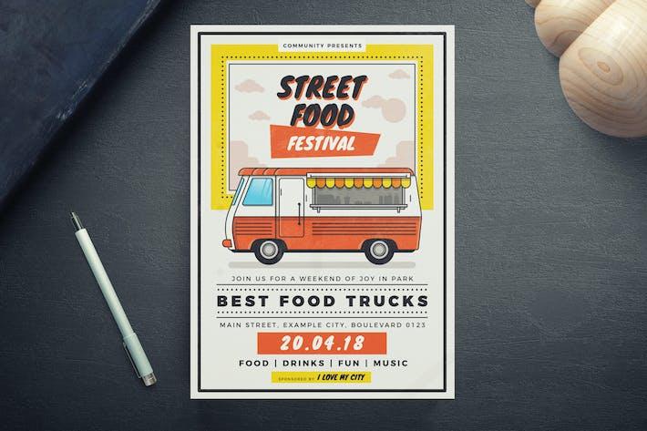 Thumbnail for Street Food Festival Flyer Template