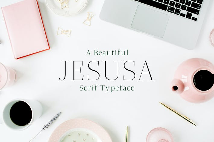 Thumbnail for Jesusa Serif Font Family Pack