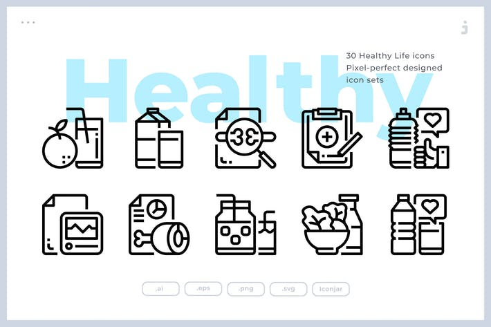 Thumbnail for 30 Healthy Life Icons