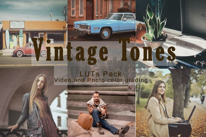 Thumbnail for Vintage Tones | LUTs Pack