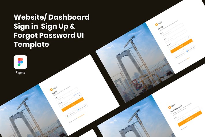 Thumbnail for Sign in,  Sign Up & Forgot Password Template