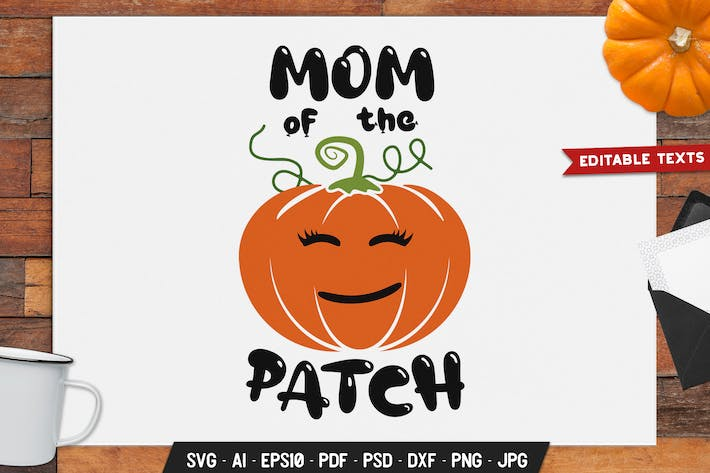 Thumbnail for Mom Of The Patch Halloween Logo Retro Vector Badge