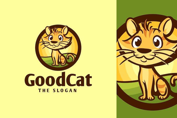 Thumbnail for Cartoon Friendly Cat Character Mascot Logo