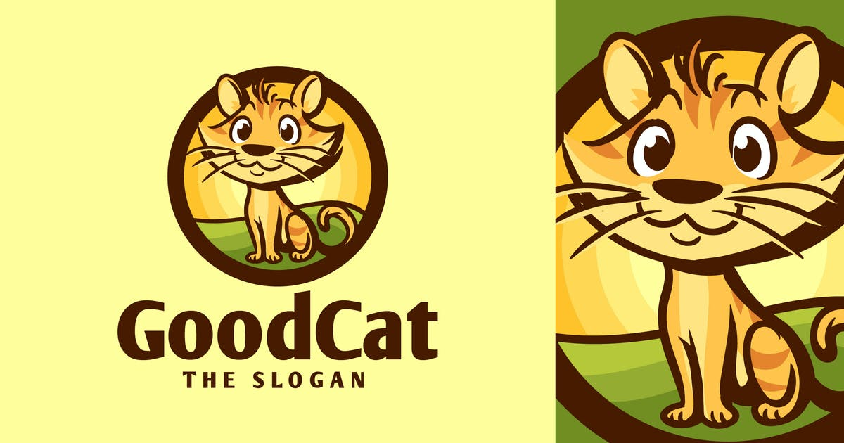 Download Cartoon Friendly Cat Character Mascot Logo by Suhandi