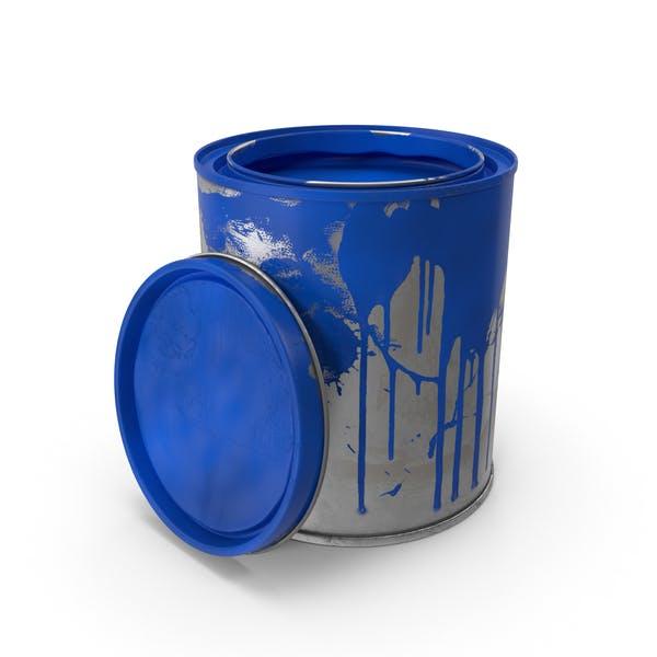 Latas de pintura sucia
