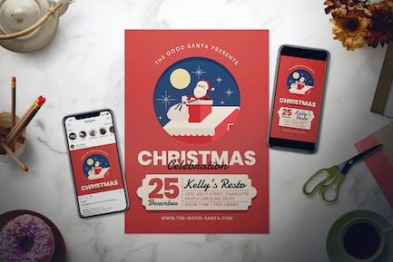 Christmas Celebration Flyer Set