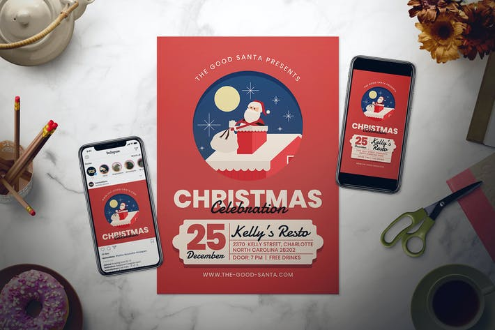 Thumbnail for Набор Флаер для празднования Рождества