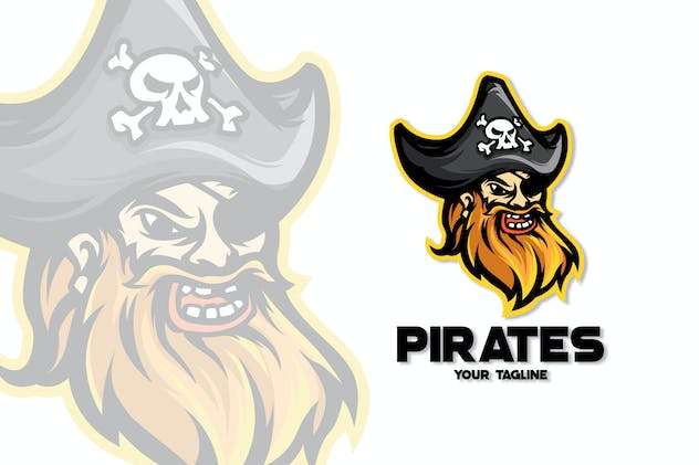PIRATES MASCOT LOGO TEMPLATE - product preview 0