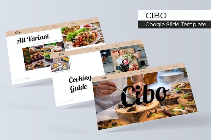 Thumbnail for Cibo - Google Slide Template