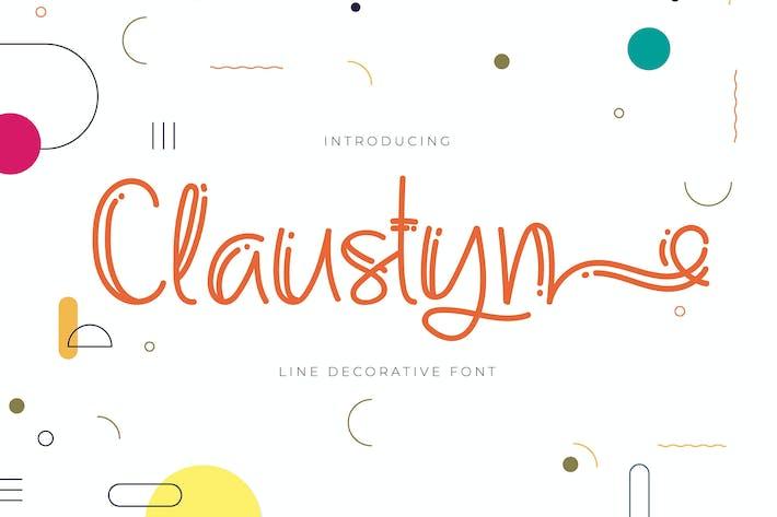Claustyn   Línea de fuente decorativa