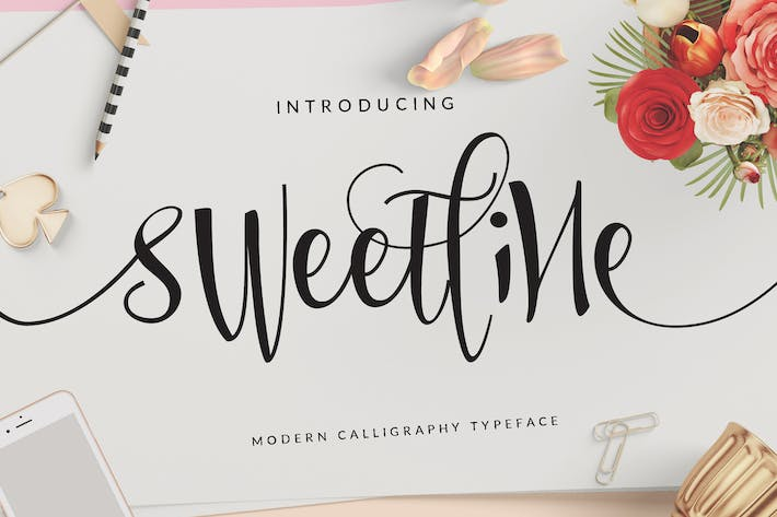 Thumbnail for Sweetline Beautiful Script Font Wedding