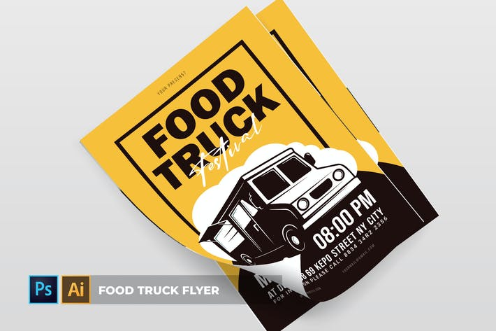 Cover Image For Food Truck | Flyer