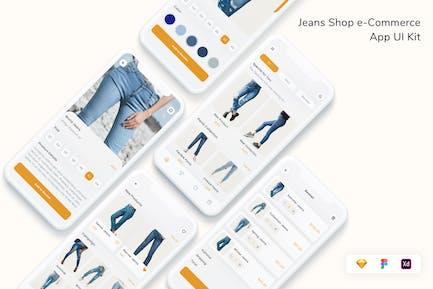 Jeans Shop e-Commerce App UI Kit
