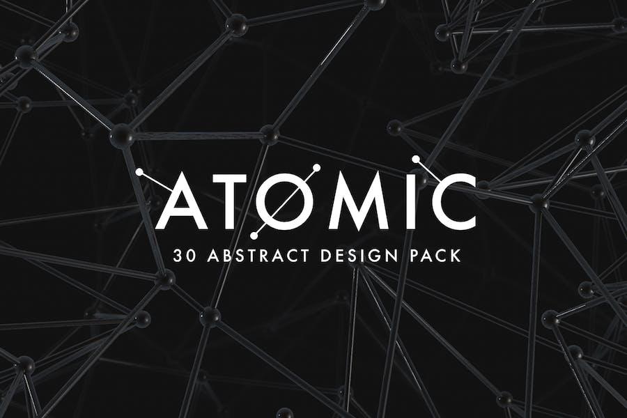 Atomic - 30 abstraktes Design Pack