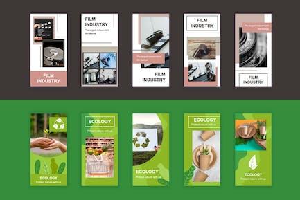 Film und Ökologie Instagram Stories Vorlage