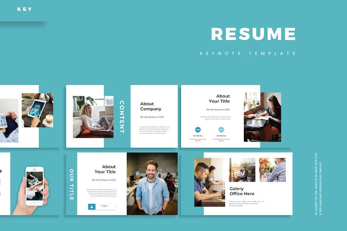 Thumbnail for Resume - Keynote Template
