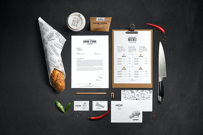 Thumbnail for Restaurant Food Mockup