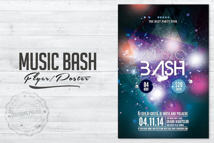Thumbnail for Music Bash Flyer Poster