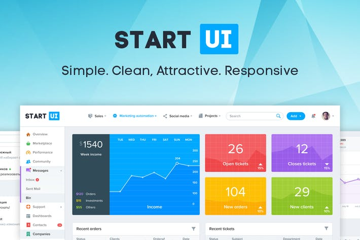 Thumbnail for StartUI - Bootstrap 4 Admin Dashboard Template