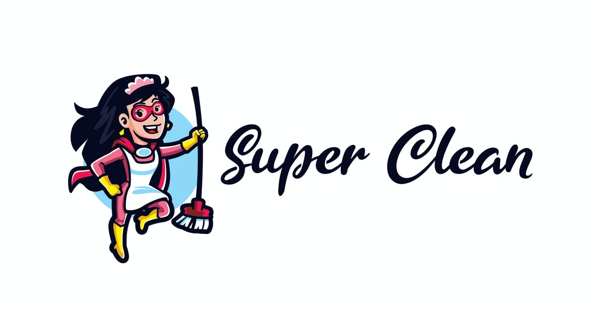 Download Super Clean - Maid Service and Housekeeping Logo by Suhandi