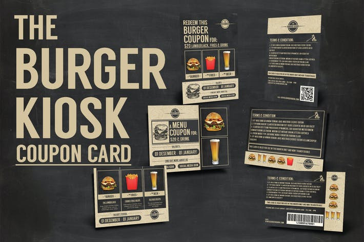 Thumbnail for Burger Kiosk Coupon Card