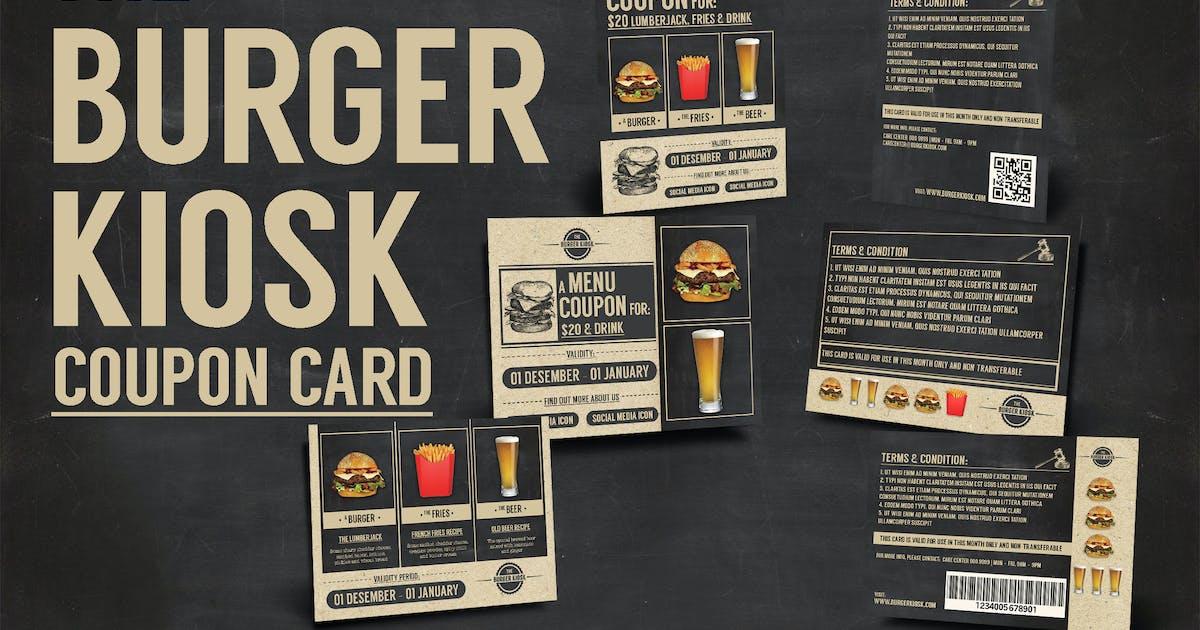 Download Burger Kiosk Coupon Card by KlapauciusCo
