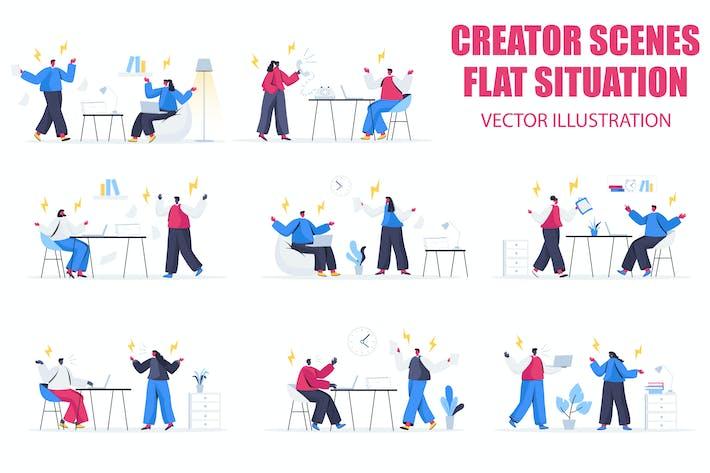 Thumbnail for Противостояние плоские люди Сцена ситуация
