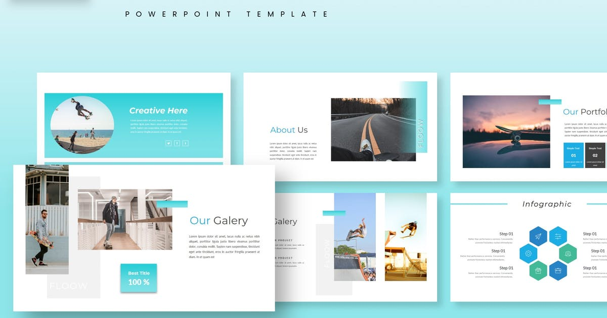 Download Flow - Powerpoint Template by aqrstudio