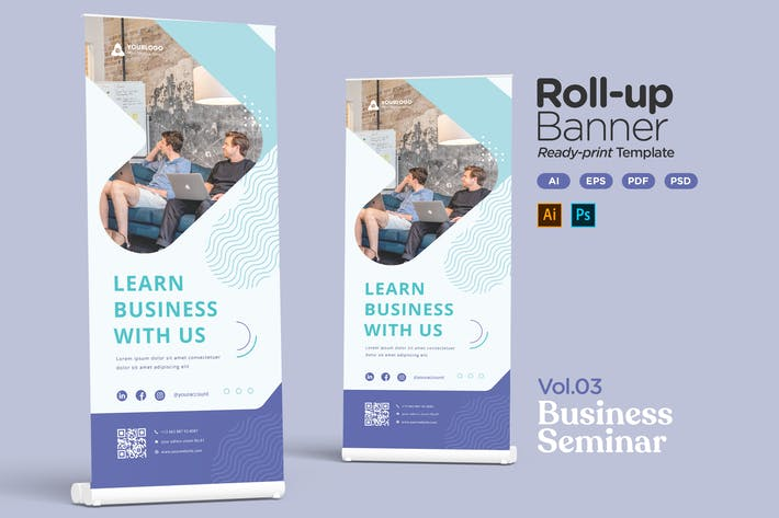 Thumbnail for Roll-up Banner Vol.03 Business Seminar or Workshop