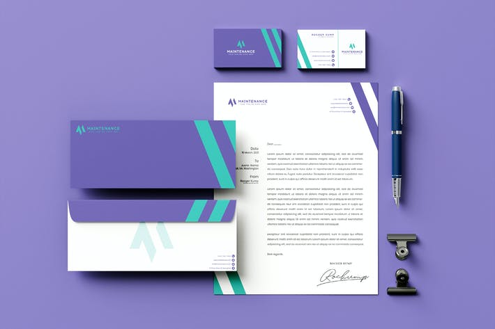 Thumbnail for Violet Branding Identity & Stationery Pack