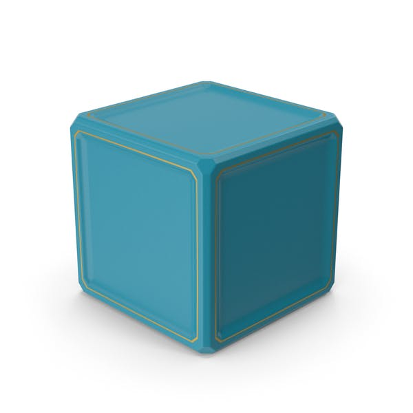 SciFi Куб Золотой Синий