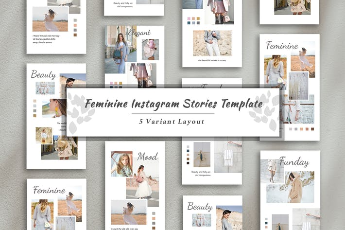 Thumbnail for Plantilla de historia femenina de Instagram