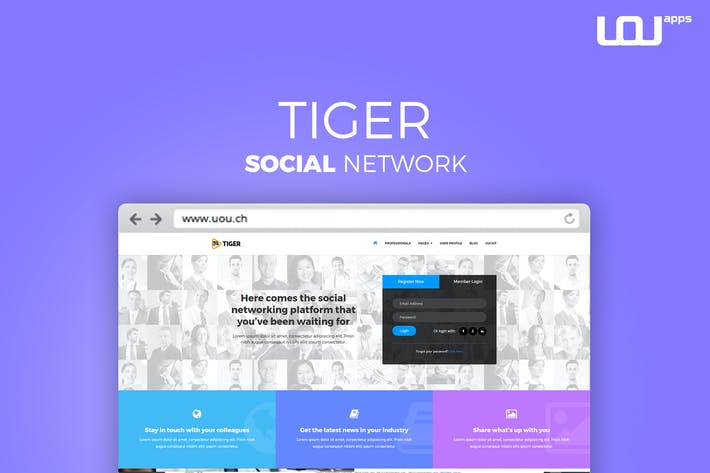 Tiger - Corporate Social Network Template by DirectoryThemes on ...