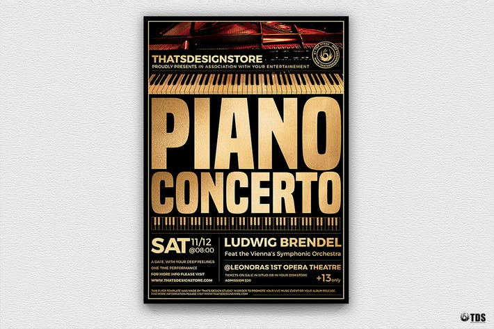 Thumbnail for Piano Concerto Flyer Template V2