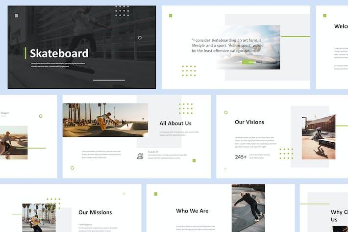 Шаблон презентации Powerpoint для скейтборда