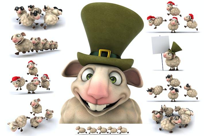 Thumbnail for 10 fun cartoon Sheeps !
