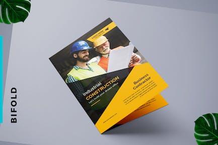 Bifold Brochure Industrial Construction Developer