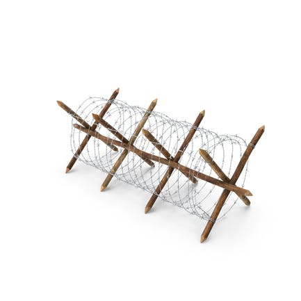 Cheval de Frise Barbed Wire Fence