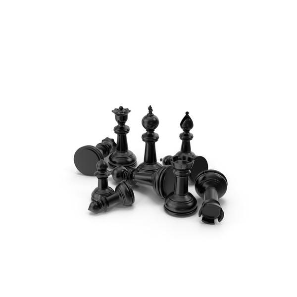 Chess Pieces Black