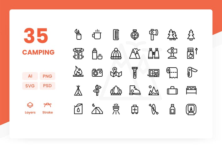 Cover Image For Camping - Icons Pack