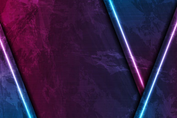 Thumbnail for Blue and purple neon laser lines